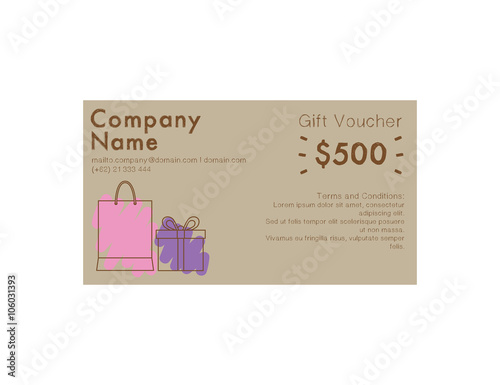 Poster  Gift Voucher Shopping 500 dollar