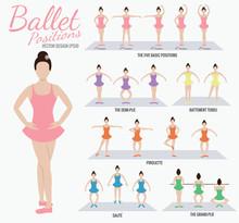 Ballet Positions Girl Cartoon ...