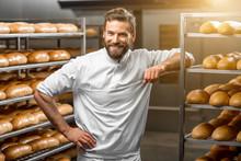 Portrait Of Handsome Baker At ...