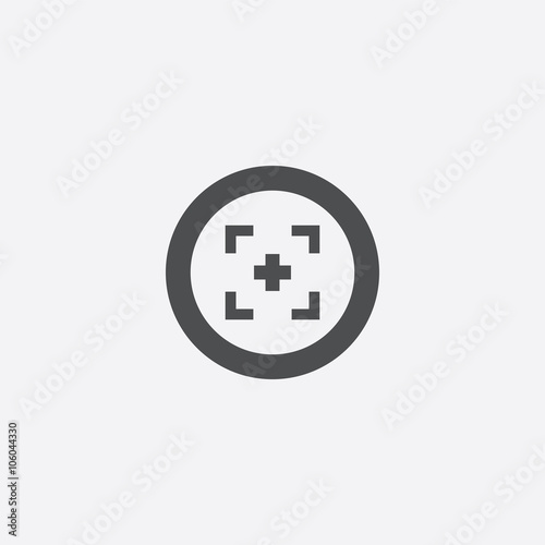 optical sight outline icon Wall mural