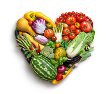 Heart Symbol. Vegetables Diet ...
