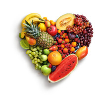 Heart Symbol. Fruits Diet Conc...
