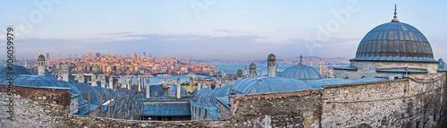 Fotografia  The domes of Suleymaniye Burial Complex