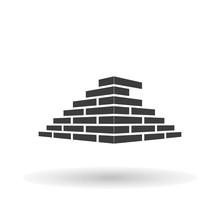 Architecture And Buildin, Brick Vector Logo Design Concept. Bricks Icon, Bricks Picture, Bricks Drawing, Bricks Image, Bricks Graphic, Bricks JPG, Bricks EPS10, Bricks AI. - Stock Vector