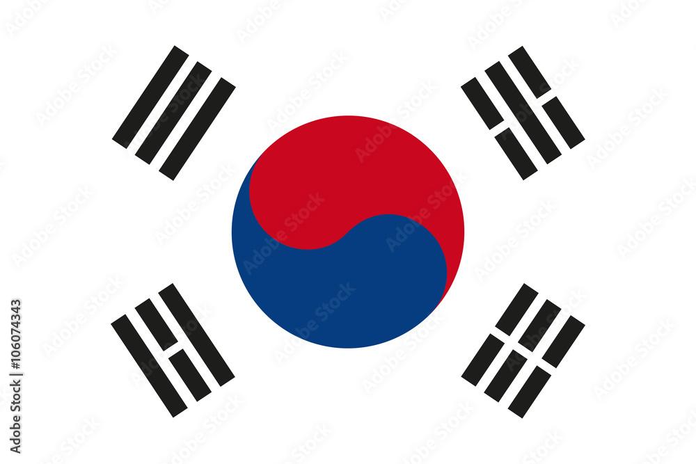 Fototapeta South Korea flag Vector. South Korea flag JPEG. South Korea flag Object. South Korea flag Picture. South Korea flag Image. South Korea flag Graphic. South Korea flag Art. South Korea flag EPS10