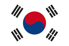 South Korea Flag Vector. South...