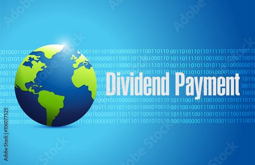 Fotografía  dividend payment international binary sign concept