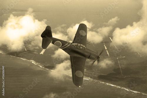 Fotografia World War 2 era fighter plane