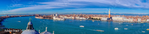 Poster Venise Panorama of Venice in Italy