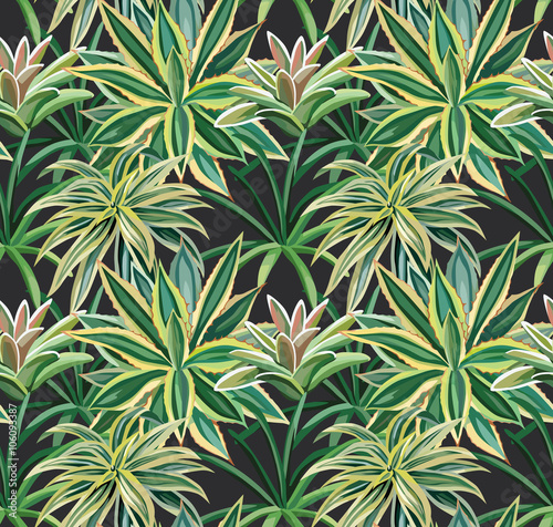 tropical plants seamless background