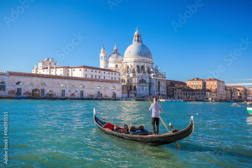 Foto op Canvas Venice traditional Gondolas on Grand Canal in Venice, Italy