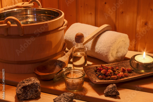 Fotografie, Obraz  Wellness und Spa in der Sauna