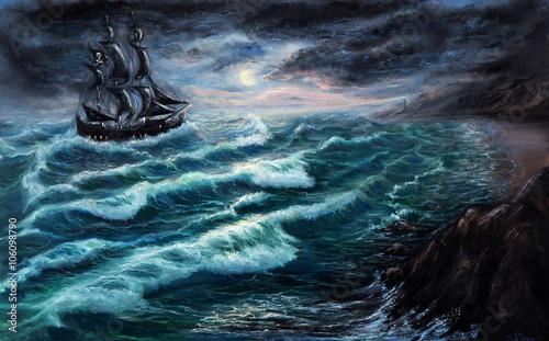 Obraz na plátně Pirate ship