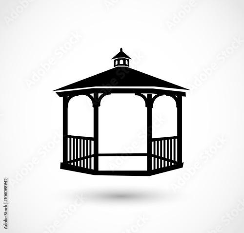 Gazebo icon vector Obraz na płótnie