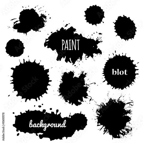 paint splash  Vector set of brush strokes - Buy this stock vector