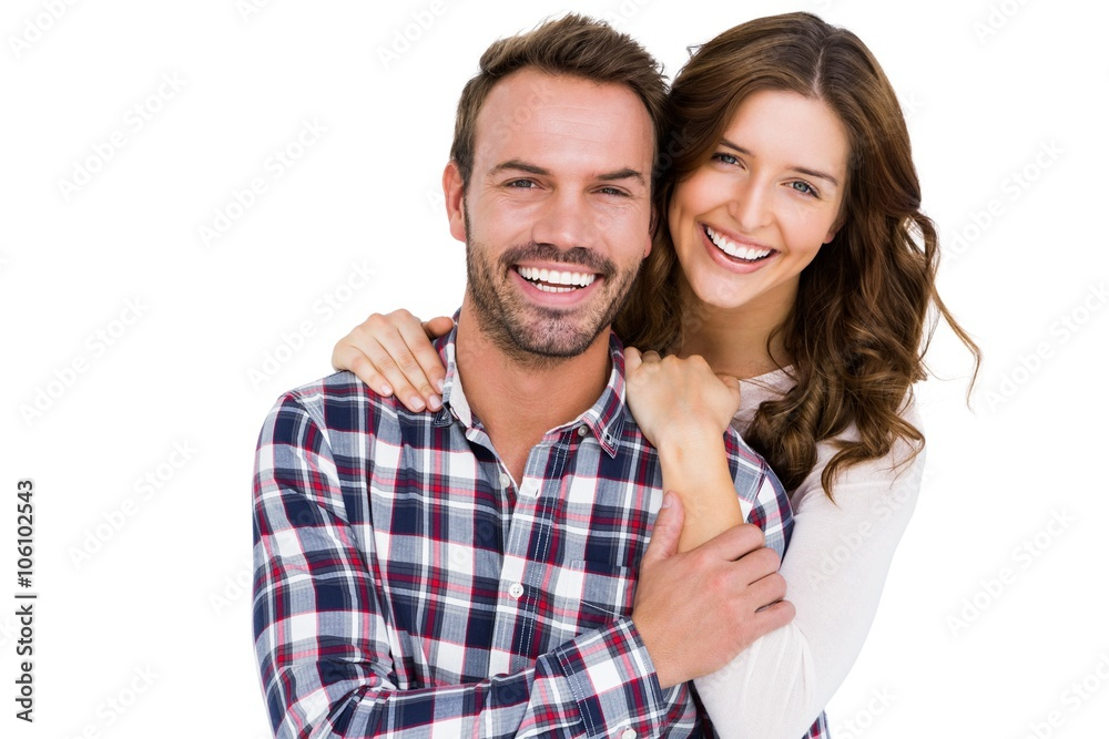 Fototapety, obrazy: Portrait of young couple smiling