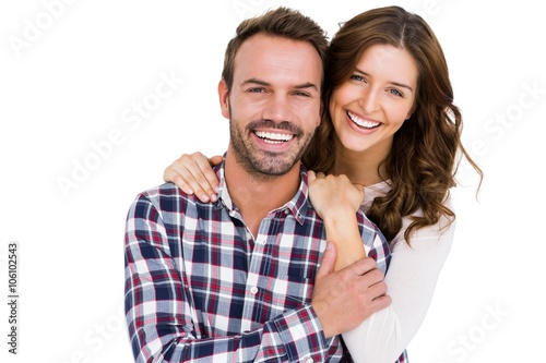 Fototapeta Portrait of young couple smiling obraz