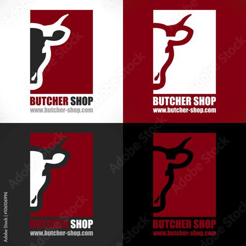 Fotografía  logo artisan boucher boucherie charcuterie