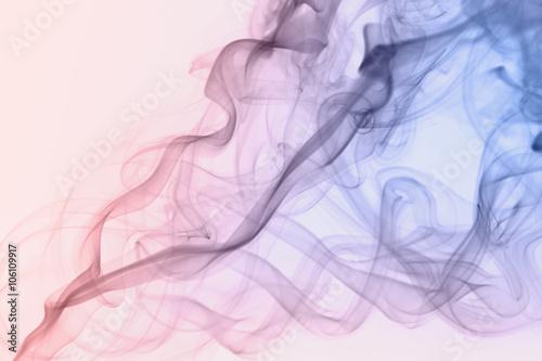 Canvas Print pastel rose quartz color smoke on white