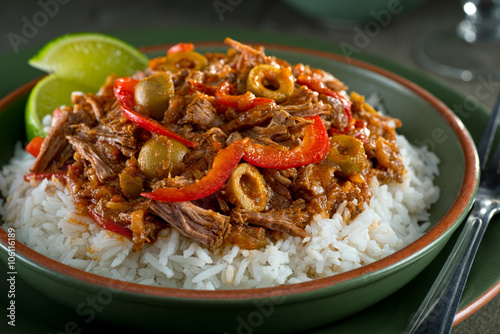 Cuban Cuisine, Ropa Vieja Fototapeta