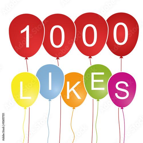 Fotografía  1000 Likes - Luftballons
