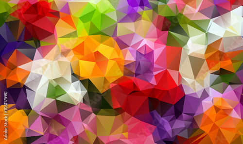 Fototapety, obrazy: Colorfull background triangulate