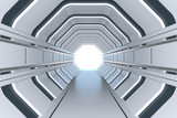 Fototapeta Do przedpokoju - Futuristic tunnel