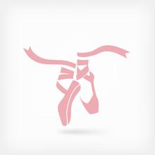 Pink Ballet Pointes. Dance Stu...