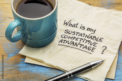 Photo sustainable competitive advantage