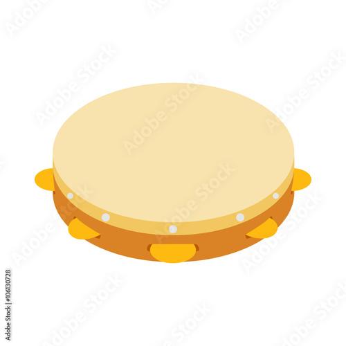 Tambourine icon, isometric 3d style Fototapeta