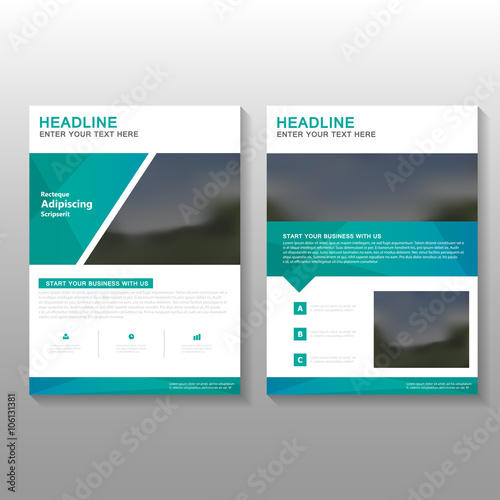 Green Elegance Vector Business Proposal Leaflet Brochure Flyer - Brochure flyer templates