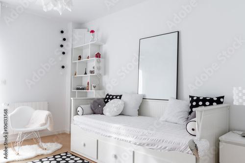 Fotografía  Dormitorio blanco
