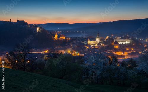 Fotografie, Obraz  Sighisoara - evening view