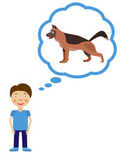 Boy Dream About Having Dog. Do...