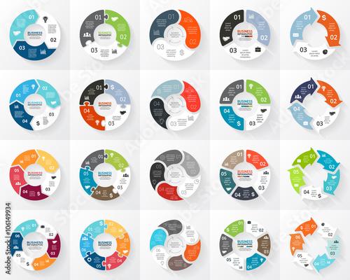 Vector circle arrows infographics set Fotobehang