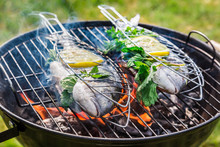 Grilling Tasty Fish With Herbs...