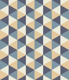 Wektorowy nowożytny bezszwowy kolorowy geometria trójboka wzór, koloru abstrakcjonistyczny geometryczny tło, poduszka stubarwny druk, retro tekstura, modnisia projekt - 106156506