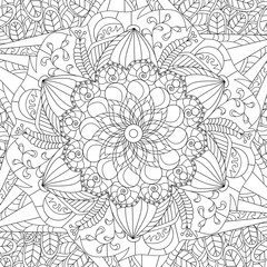 Mandala coloring vector for adults