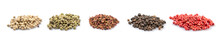 Mix Peppercorn Variety Over Wh...