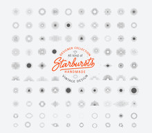 Huge Starburst Collection, Perfect For Retro Logos Designer Collection