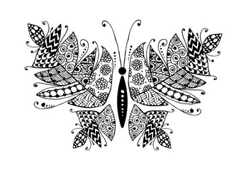 Panel Szklany Boho Colorful butterfly for your design