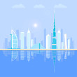 Dubai - the largest city in the United Arab Emirates, the administrative center of Dubai.