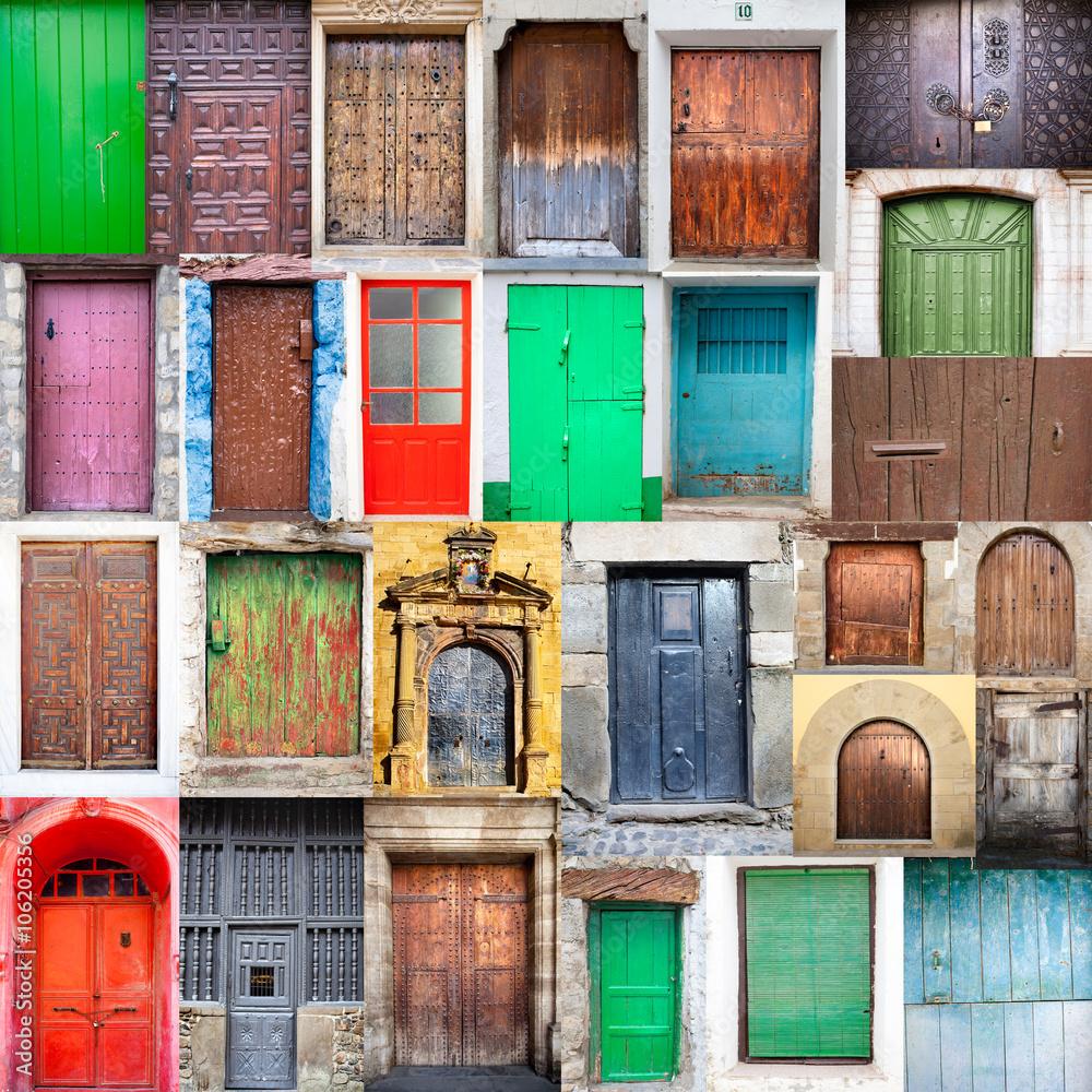 Fototapeta Collage puertas