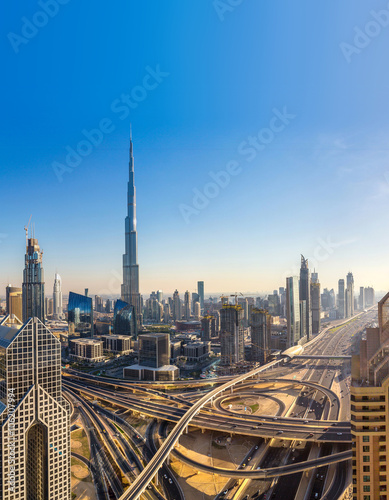 Cuadros en Lienzo Aerial view of Dubai
