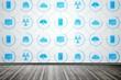 App wallpaper in room