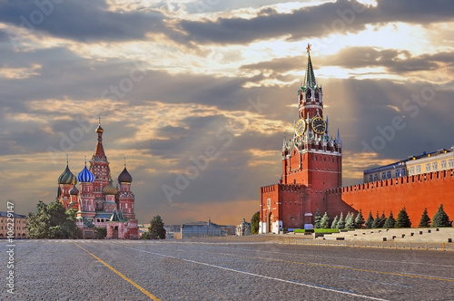 Tuinposter Moskou Red square in Moscow