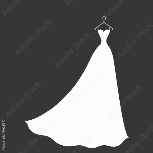 bridal dress on a hanger Fototapet