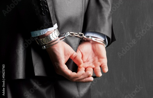 Handcuffs. Fototapeta