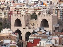 Aerial View Of Serranos Gate Or Serranows Towers, Valencia, Spain