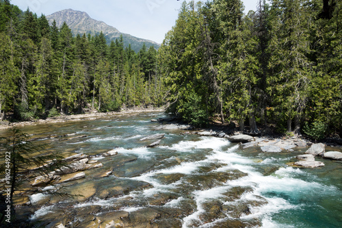 Fotografie, Obraz  McDonald creek, Montana, Glacier National Park, US